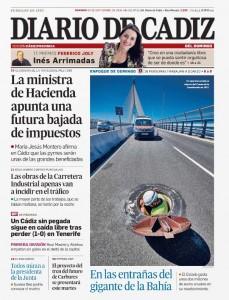 Diario de Cádiz TGM Portada 30SEP2018