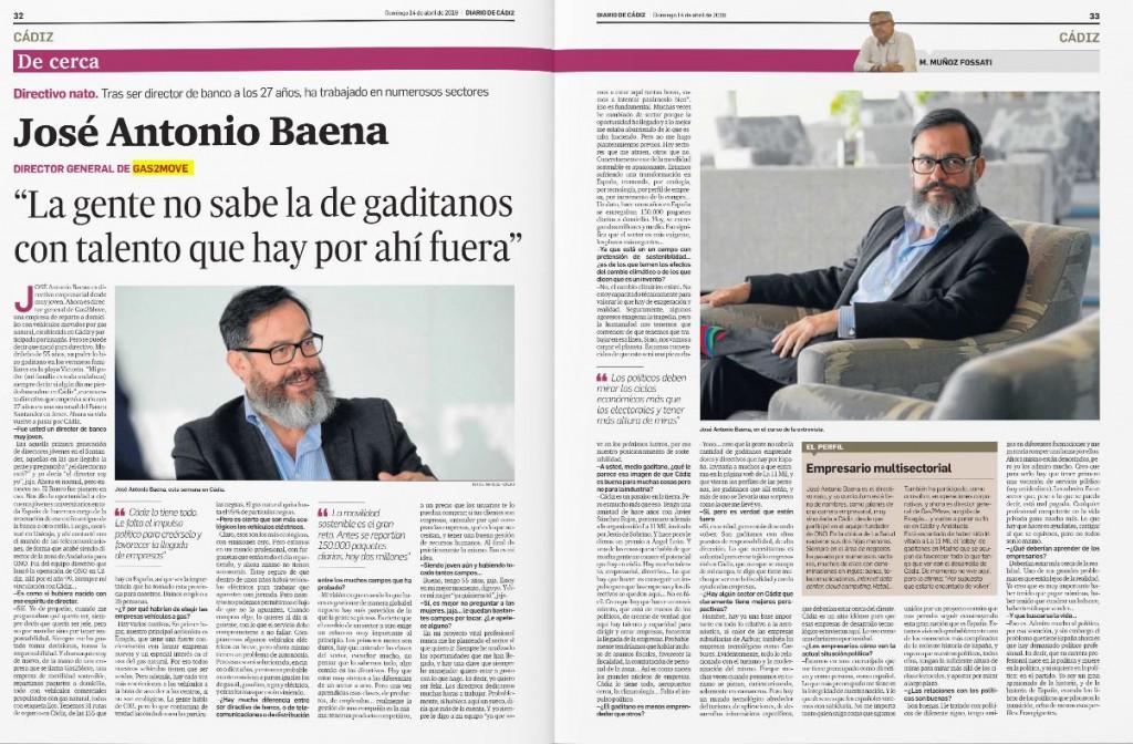 Entrevista JA Baena Diario de Cádiz 14ABR2019