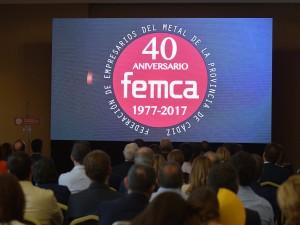 Ceremonia del 40 Aniversario de la Federación de Empresas del Metal de Cádiz