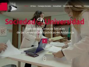 Nueva web con integración de spot y nuevo vídeo corporativo para el Foro de los Consejos Sociales de Andalucía