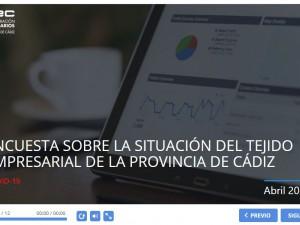 Rueda de prensa telemática para los empresarios de la provincia de Cádiz