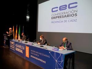 Asamblea general y electoral de la CEC en el teatro Florida de Algeciras